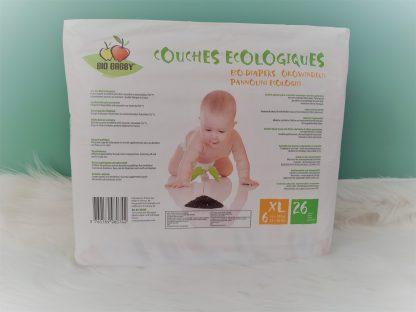 Couches écologiques Bio Babby XL verso